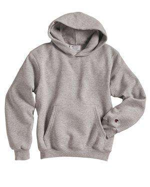 Brand: Champion | Style: S790 | Product: Double Dry Eco Youth Hooded Sweatshirt