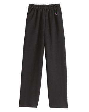 Brand: Champion | Style: P890 | Product: Double Dry Eco Youth Open Bottom Sweatpants with Pockets