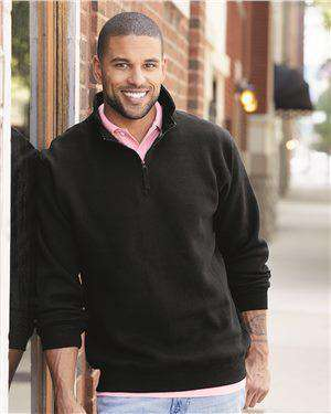 Brand: J. America | Style: 8634 | Product: Heavyweight Quarter-Zip Fleece Sweatshirt