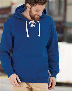 Brand: J. America | Style: 8830 | Product: Sport Lace Hooded Sweatshirt