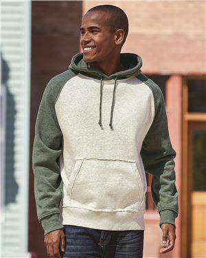 Brand: J. America | Style: 8885 | Product: Vintage Heather Hooded Sweatshirt