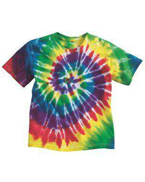 Brand: Dyenomite | Style: 20BMS | Product: Youth Multi-Color Spiral T-Shirt
