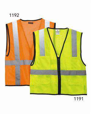 Brand: ML Kishigo | Style: 1191-1192 | Product: Economy Six Pocket Mesh Vest
