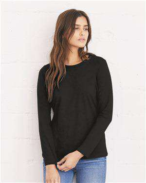 Brand: Bella + Canvas | Style: 6450 | Product: Women's Relaxed Long Sleeve Jersey Tee