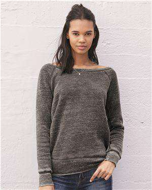 Brand: Bella + Canvas | Style: 7501 | Product: Women's Sponge Fleece Wideneck Sweatshirt