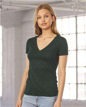 Brand: Bella + Canvas | Style: 8435 | Product: Women's Triblend Deep V-neck Tee