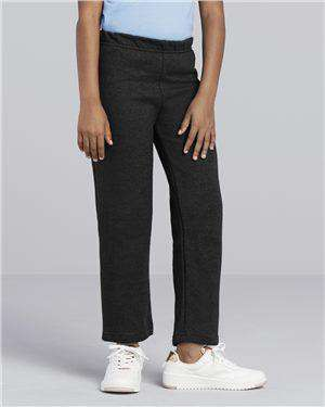 Brand: Gildan | Style: 18400B | Product: Heavy Blend Youth Open Bottom Sweatpants
