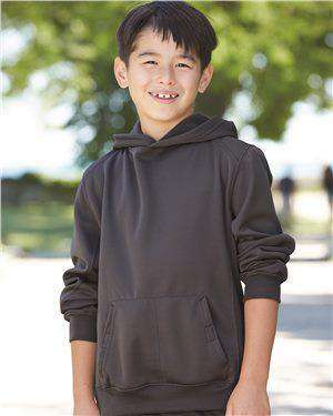 Brand: Badger | Style: 2454 | Product: BT5 Youth Performance Fleece Hooded Sweatshirt