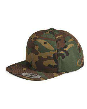 Brand: Yupoong | Style: 6089M | Product: Wool Blend Flat Bill Snapback Cap