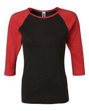 Bella + Canvas Women's Raglan Baseball T-Shirt - 2000