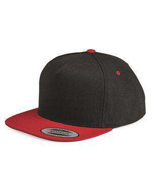 Brand: Yupoong | Style: 6007 | Product: Five-Panel Flat Bill Cap