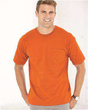 Brand: Bayside | Style: 5070 | Product: USA-Made Short Sleeve T-Shirt With a Pocket