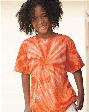 Brand: Dyenomite | Style: 20BCY | Product: Youth Cyclone Vat-Dyed Pinwheel Short Sleeve T-Shirt