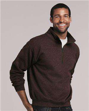 Brand: Gildan | Style: 18800 | Product: Heavy Blend Quarter-Zip Cadet Collar Sweatshirt