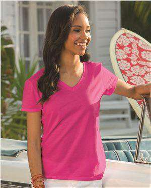Brand: Fruit of the Loom | Style: L39VR | Product: HD Cotton Women's V-Neck T-Shirt