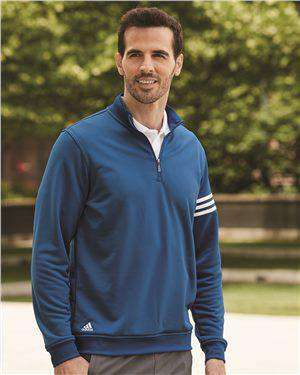 Brand: Adidas | Style: A190 | Product: ClimaLite 3-Stripes French Terry Quarter-Zip Pullover