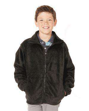 Brand: Sierra Pacific | Style: 4061 | Product: Youth Full-Zip Fleece Jacket