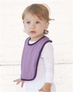 Brand: Rabbit Skins | Style: 1004 | Product: Infant Contrast Trim Premium Jersey Bib