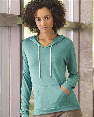 Brand: Alternative | Style: 1928 | Product: Women's Eco-Jersey™ Classic Hooded Pullover T-Shirt