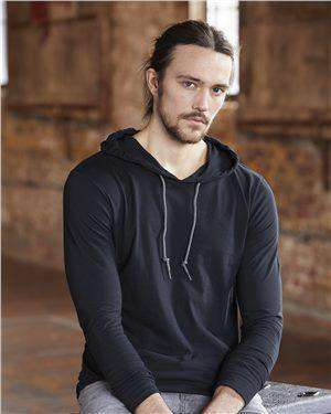 Brand: Anvil | Style: 987 | Product: Lightweight Long Sleeve Hooded Tee