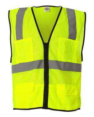 ML Kishigo Men's Six-Pocket Mesh Safety Vest