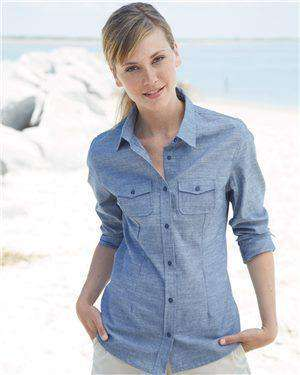 Brand: Burnside | Style: 5255 | Product: Women's Long Sleeve Chambray