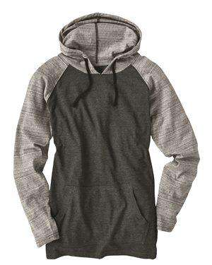 Brand: Burnside | Style: 8127 | Product: Yarn-Dyed Raglan Hooded Pullover