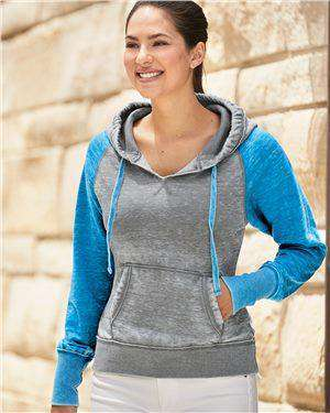 Brand: J. America | Style: 8926 | Product: Women's Zen Fleece Raglan Hooded Sweatshirt