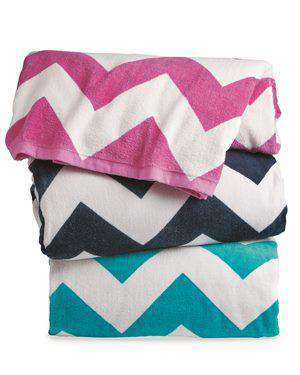 Brand: Carmel Towel Company | Style: C3060X | Product: Chevron Velour Beach Towel