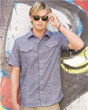 Brand: Burnside | Style: 9247 | Product: Textured Solid Short Sleeve Shirt