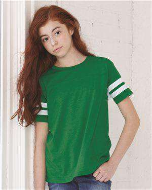 Brand: LAT | Style: 6137 | Product: Youth Football Fine Jersey Tee