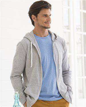 Brand: Fruit of the Loom | Style: SF60R | Product: Sofspun Full-Zip Hooded Long Sleeve T-Shirt
