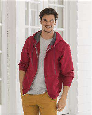 Brand: Fruit of the Loom | Style: SF73R | Product: Sofspun Hooded Full-Zip Sweatshirt