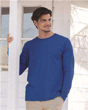 Brand: Fruit of the Loom | Style: SFLR | Product: Sofspun Long Sleeve T-Shirt