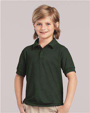 Brand: Gildan | Style: 72800B | Product: DryBlend® Youth Double Pique Sport Shirt