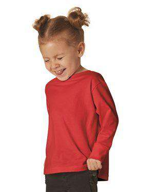 Brand: Rabbit Skins | Style: 3302 | Product: Toddler Long Sleeve Fine Jersey Tee