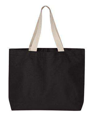Bayside USA-Made Jumbo Canvas Tote Bag