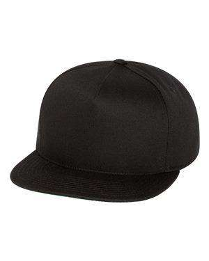 Yupoong Five-Panel Flat Bill Cap