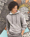 Brand: Burnside | Style: 8609 | Product: Injected Yarn Dyed Fleece Hooded Pullover Sweatshirt