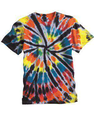 Brand: Dyenomite | Style: 200TD | Product: Short Sleeve Rainbow Cut-Spiral T-Shirt