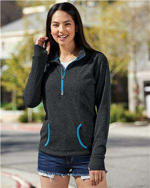 Brand: J. America | Style: 8617 | Product: Women's Cosmic Fleece Quarter-Zip Pullover