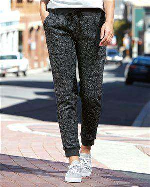 Brand: J. America | Style: 8943 | Product: Women's Glitter French Terry Fleece Jogger