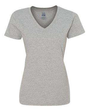 Fruit of the Loom Women's HD Cotton™ V-Neck T-Shirt - L39VR