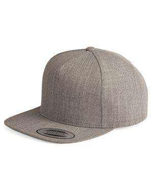Brand: Yupoong | Style: 5089M | Product: Five-Panel Wool Blend Snapback Cap