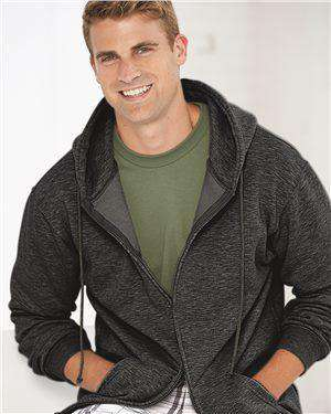 Brand: Bayside | Style: 900 | Product: USA-Made Full-Zip Hooded Sweatshirt