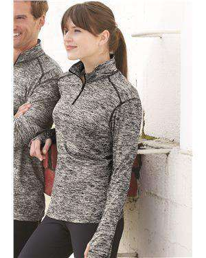 Brand: Badger | Style: 4193 | Product: Blend Women's Quarter-Zip Pullover