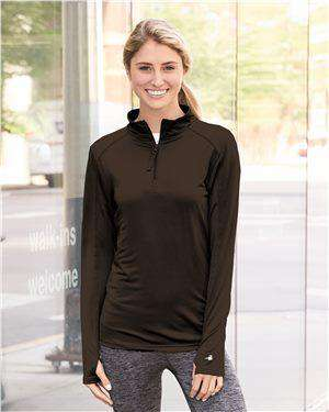 Brand: Badger | Style: 4286 | Product: Women's Quarter-Zip Lightweight Pullover