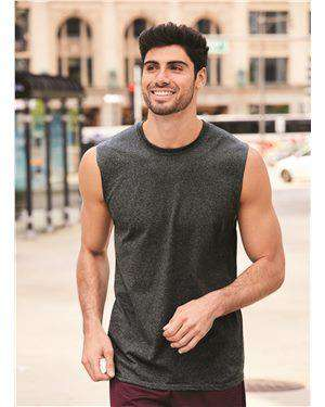 Brand: JERZEES | Style: 29SR | Product: Dri-Power® Active Sleeveless 50/50 T-Shirt