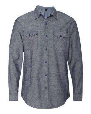 Burnside Men's Modern Pocket Chambray Shirt