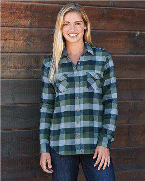 Brand: Weatherproof | Style: W164761 | Product: Vintage Women's Brushed Flannel Long Sleeve Shirt